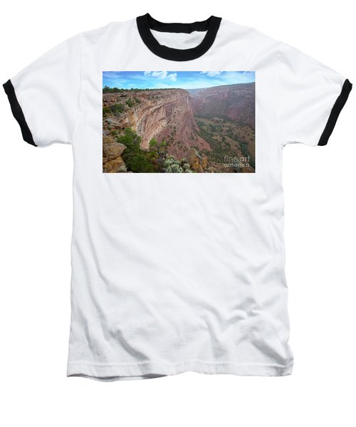 View From The Top Baseball T-Shirt by Anne Rodkin