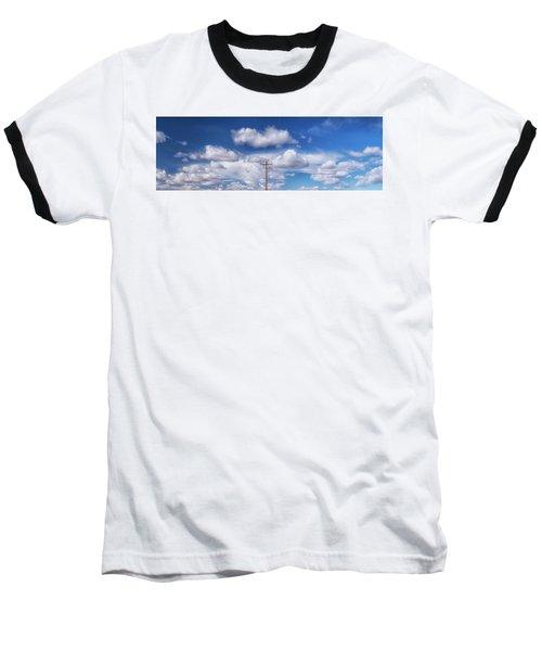 View Of A Phone Pole Baseball T-Shirt by Gary Warnimont