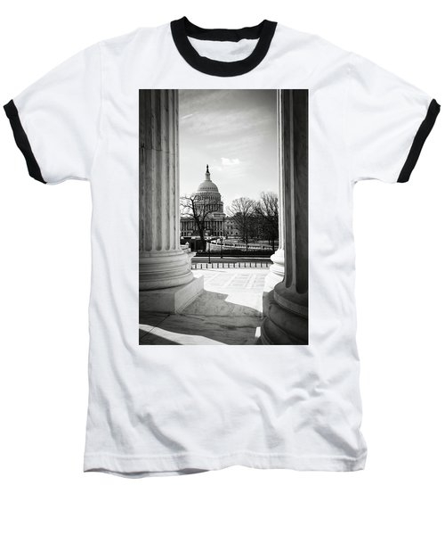 View Of Capitol Hill Through The Supreme Court Baseball T-Shirt