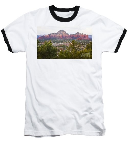 Baseball T-Shirt featuring the photograph View Of Sedona From The Airport Mesa by Chris Dutton