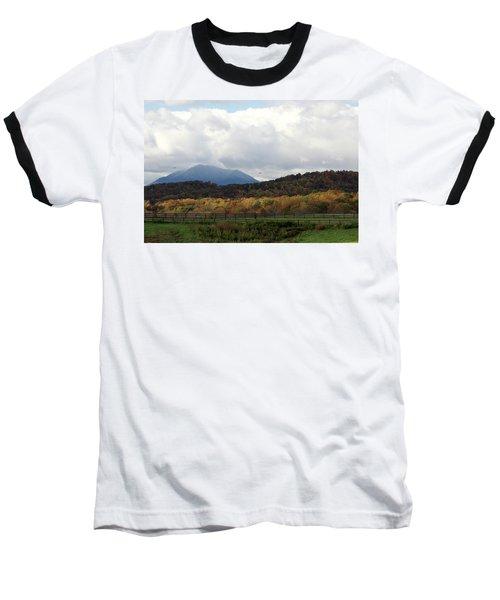 View Of Sharp Top In Blue Ridge Mountains Baseball T-Shirt