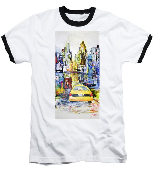 View To Manhattan Baseball T-Shirt