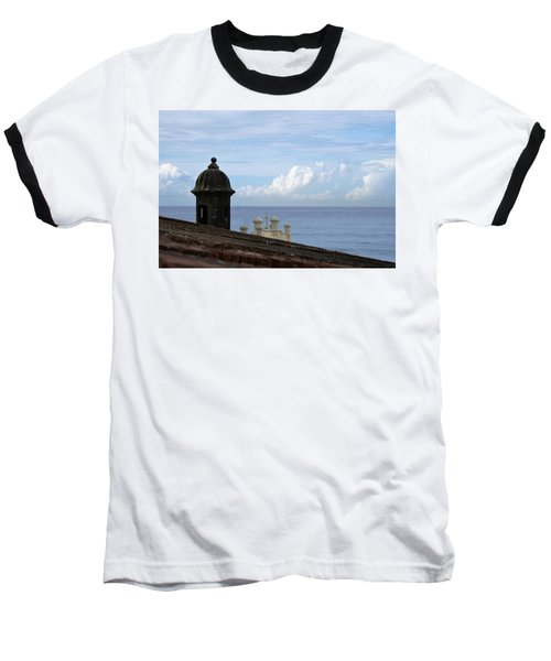 View To The Sea From El Morro Baseball T-Shirt by Lois Lepisto