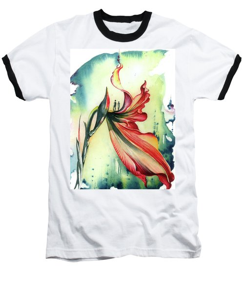 Baseball T-Shirt featuring the painting Viewpoint by Anna Ewa Miarczynska