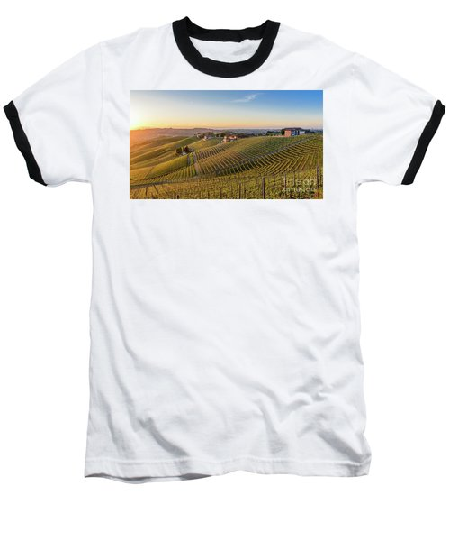Vineyard At Barbaresco, Italy Baseball T-Shirt