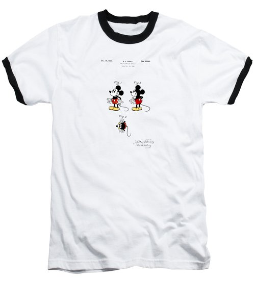 Vintage 1930 Mickey Mouse Patent Baseball T-Shirt