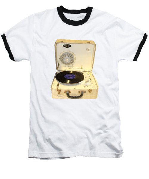 Vintage 1950s Record Player And Vinyl Record Baseball T-Shirt by Tom Conway