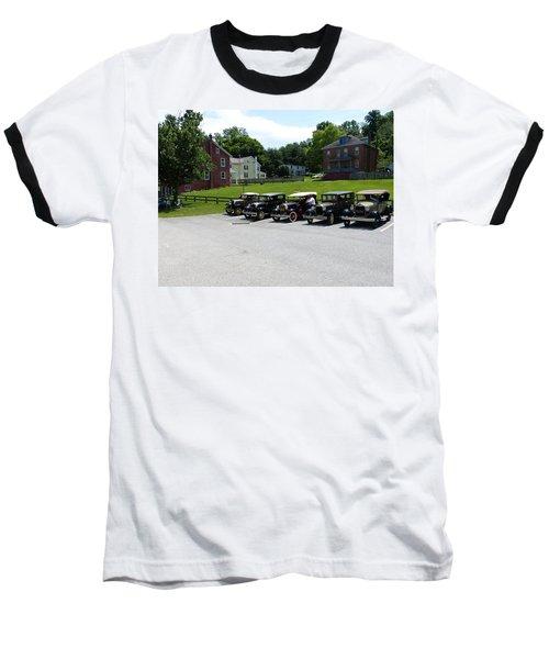Vintage Auto Display Baseball T-Shirt by Donald C Morgan