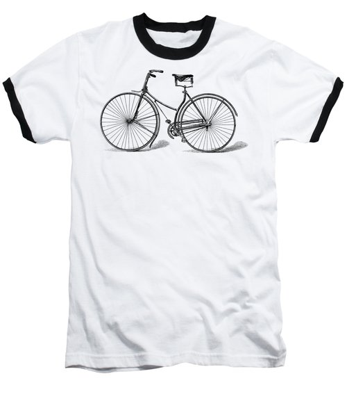 Baseball T-Shirt featuring the digital art Vintage Bike by ReInVintaged