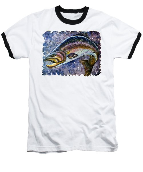 Vintage Blue Trout Fresco  Baseball T-Shirt
