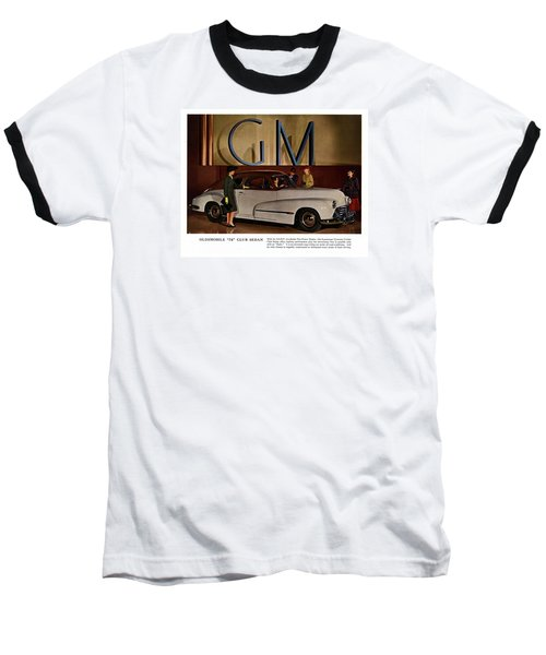 Vintage Car Ads Baseball T-Shirt by Allen Beilschmidt
