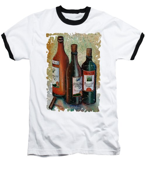 Vintage Georgian Wine Fresco Baseball T-Shirt