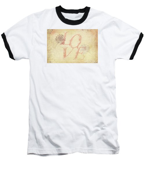 Vintage Love Baseball T-Shirt by Caitlyn Grasso