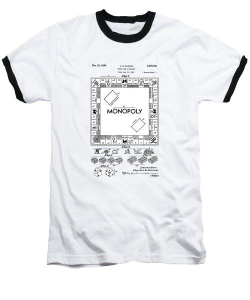 Vintage Monopoly Patent 1935 Baseball T-Shirt