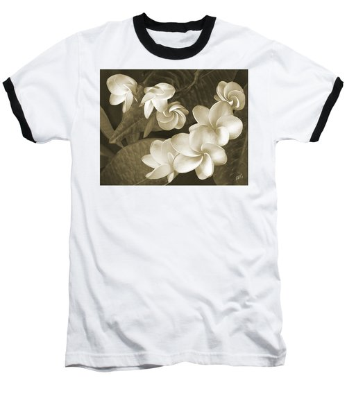 Baseball T-Shirt featuring the photograph Vintage Plumeria by Ben and Raisa Gertsberg