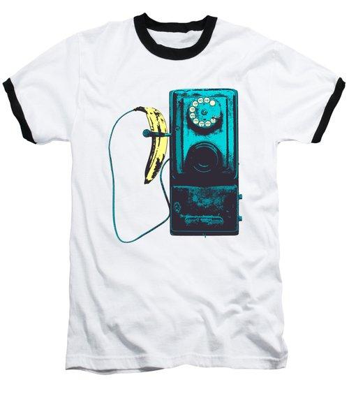 Vintage Public Telephone Baseball T-Shirt by Illustratorial Pulse