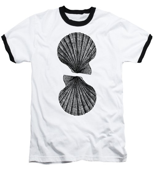 Baseball T-Shirt featuring the photograph Vintage Scallop Shells by Edward Fielding