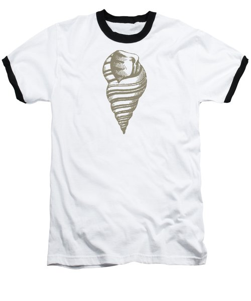 Vintage Sea Shell Illustration Baseball T-Shirt