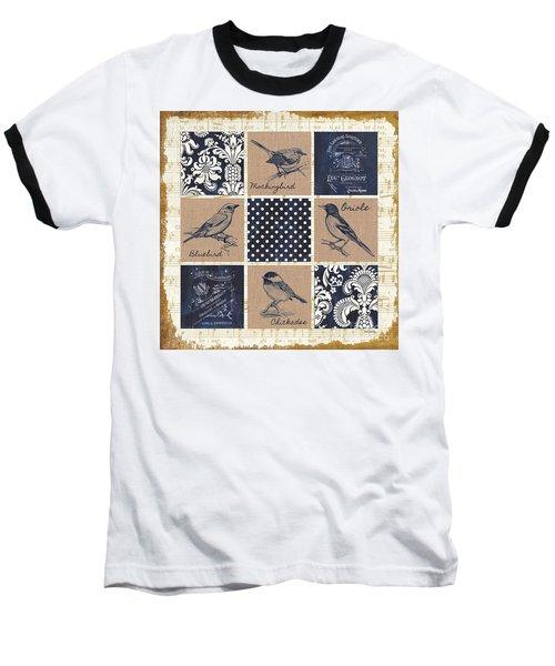 Vintage Songbird Patch 2 Baseball T-Shirt