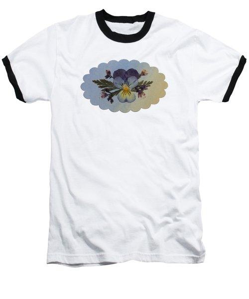 Viola Pressed Flower Arrangement Baseball T-Shirt