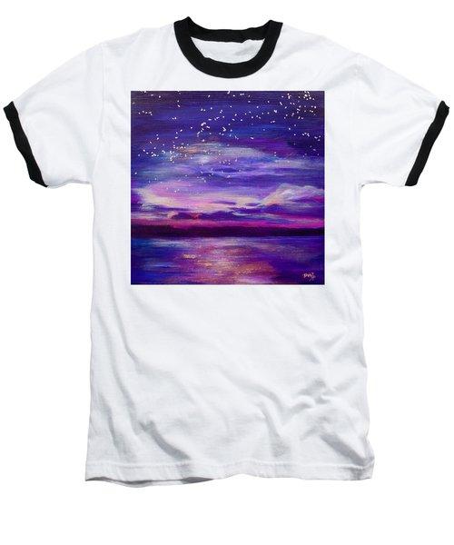 Violet Evening Baseball T-Shirt