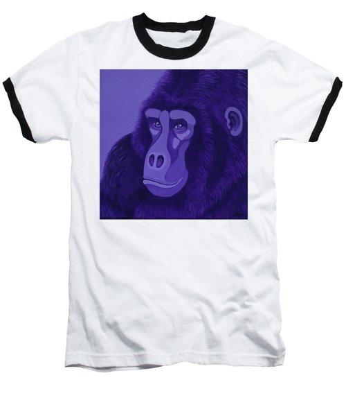 Violet Gorilla Baseball T-Shirt