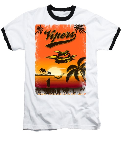 Vipers  F16 Baseball T-Shirt by Clear II land Net