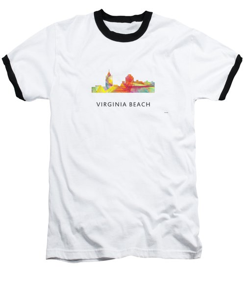 Virginia Beach  Virginia Skyline Baseball T-Shirt