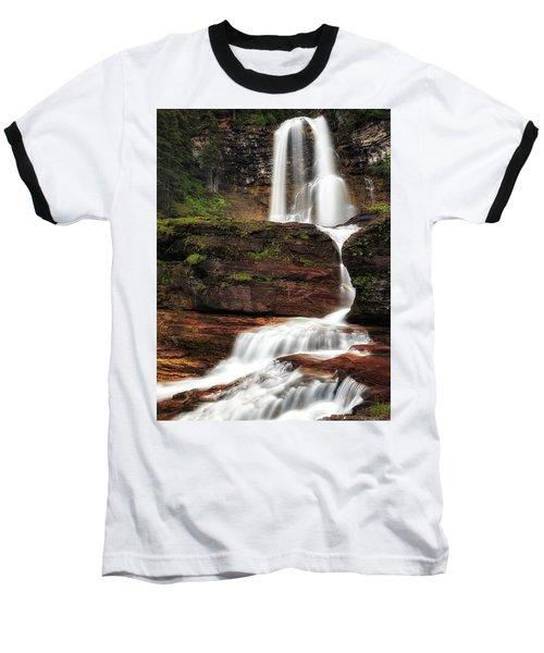 Virginia Falls Glacier National Park Baseball T-Shirt
