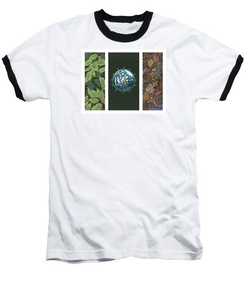 Viriditas Triptych Baseball T-Shirt