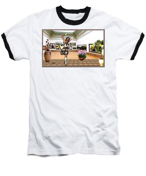 Virtual Exhibition - A Girl With A Pairro Dress Baseball T-Shirt by Danail Tsonev