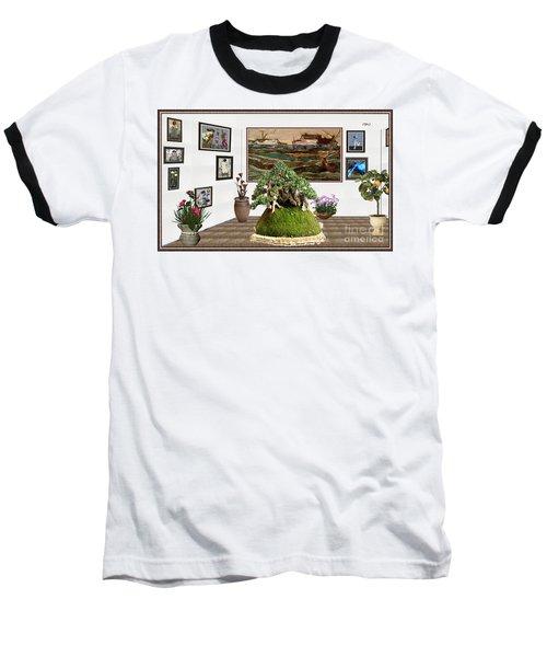 Virtual Exhibition -  Bonsai Palm 17 Baseball T-Shirt by Pemaro