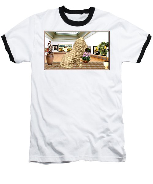 Virtual Exhibition - Statue Of A Lion Baseball T-Shirt by Pemaro