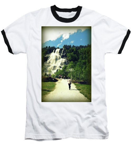 Visit To Tvindefossen Falls Baseball T-Shirt