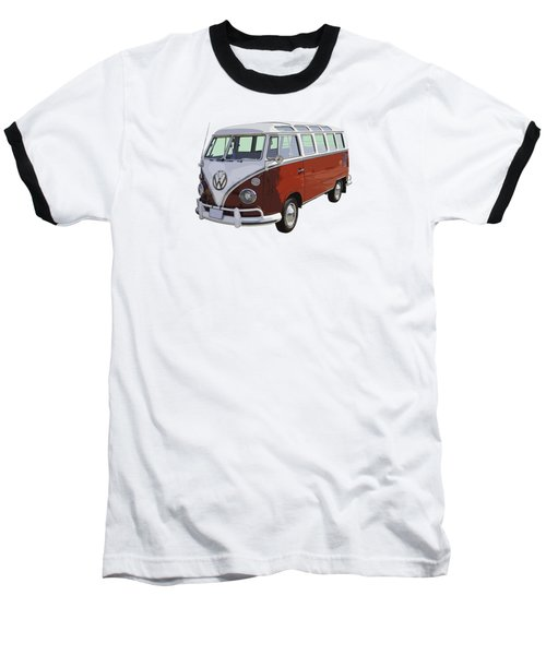Volkswagen Bus 21 Window Bus  Baseball T-Shirt