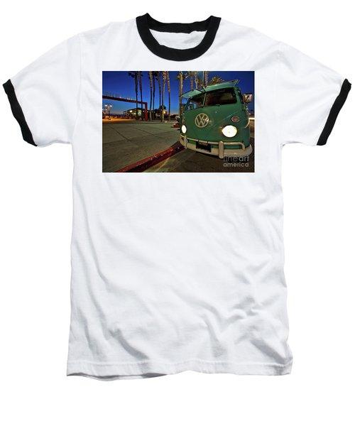 Volkswagen Bus At The Imperial Beach Pier Baseball T-Shirt