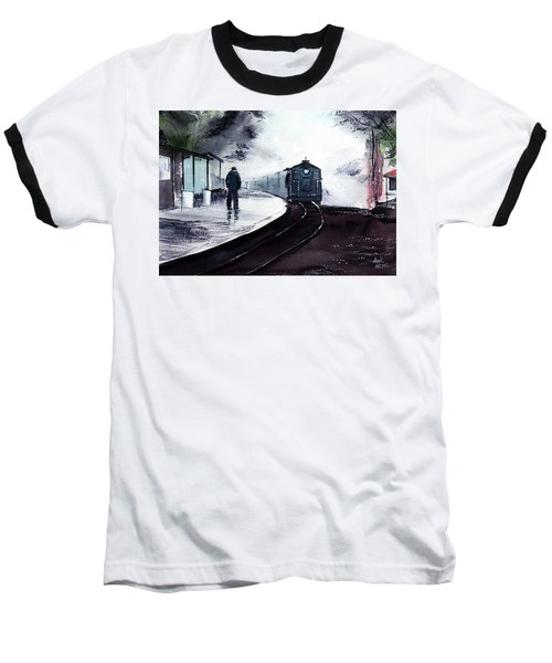 Baseball T-Shirt featuring the painting Waiting by Anil Nene
