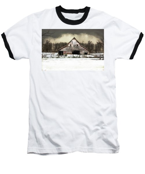 Waiting For The Storm To Pass Baseball T-Shirt by Julie Hamilton