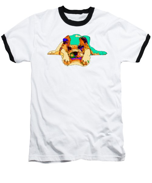 Waiting For You. Dog Series Baseball T-Shirt by Rafael Salazar