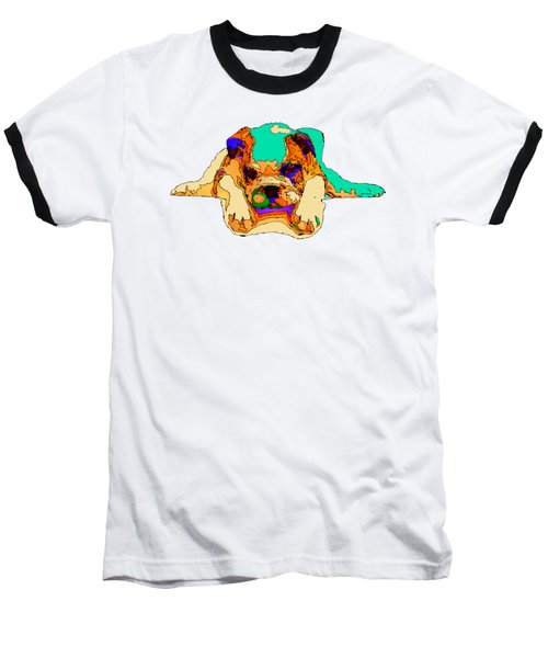 Waiting For You. Dog Series Baseball T-Shirt