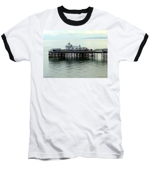 Baseball T-Shirt featuring the photograph Wales Boardwalk by Joan  Minchak