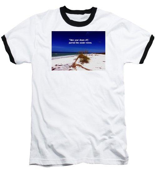 Walk In The Sand Baseball T-Shirt