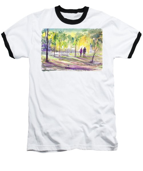 Walk Through The Woods Baseball T-Shirt