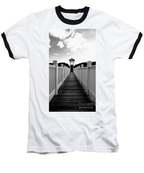 Walk To The Beach Baseball T-Shirt