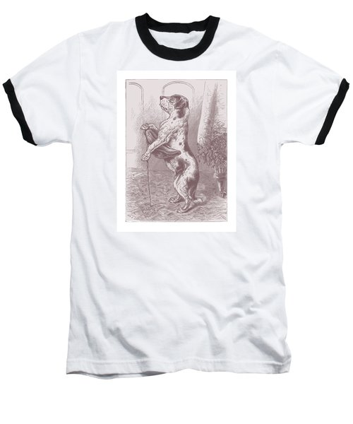 Baseball T-Shirt featuring the drawing Walkies? by David Davies
