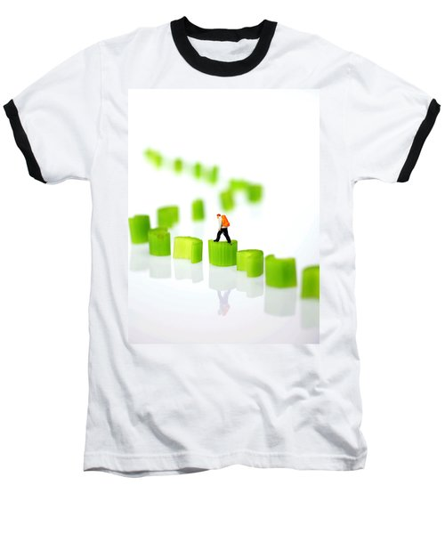 Walking On Celery  Baseball T-Shirt by Paul Ge
