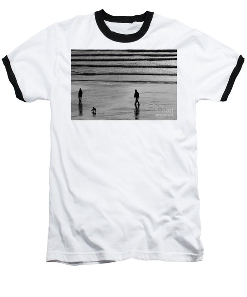 Baseball T-Shirt featuring the photograph Walking The Dog At Marazion by Brian Roscorla