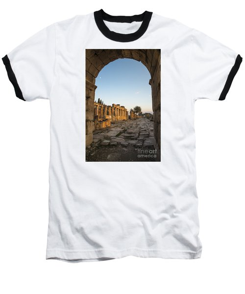Walking The History In Hierapolis Baseball T-Shirt by Yuri Santin