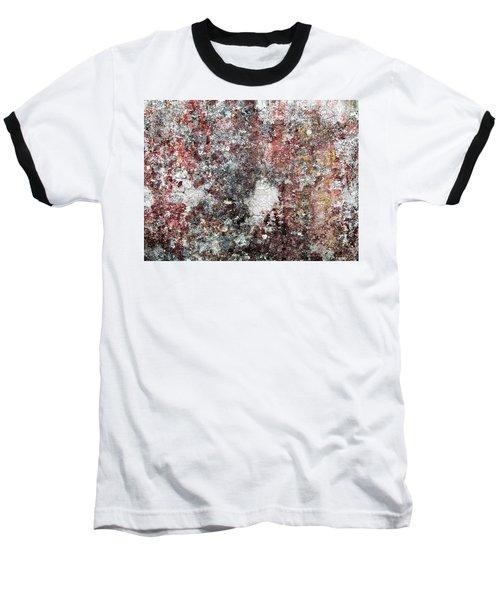 Wall Abstract 103 Baseball T-Shirt by Maria Huntley