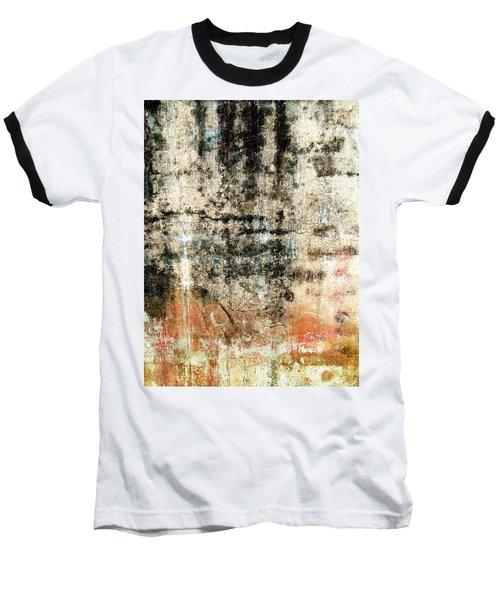 Wall Abstract 182 Baseball T-Shirt by Maria Huntley